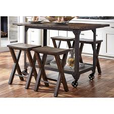 industrial kitchen islands industrial kitchen island and counter height stool set by liberty