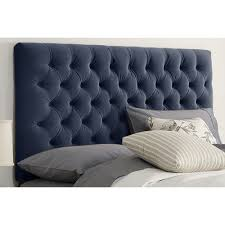 buy tufted upholstered headboard color regal navy size full