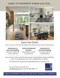 innovative home design inc feinmann hosts home design renovation workshops
