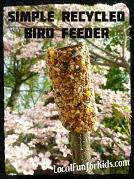 earth day craft for kids recycled bird feeder home