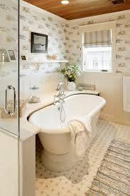 Roman Shades For Bathroom Tile Around Freestanding Tub Bathroom Beach Style With Wood