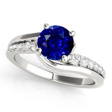 sapphire engagement rings blue sapphire engagement rings in white gold