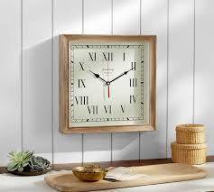 newport wood clock pottery barn au