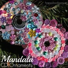 cd mandala ornaments for to make happy hooligans
