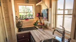 exterior design small kitchen tumbleweed tiny house with oak