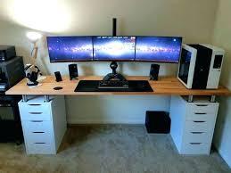 L Gaming Desk L Shaped Gaming Desk Medium Size Of Deskoffice Computer Desk Black