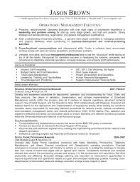 operations manager resume plant manager resume exle exles of resumes