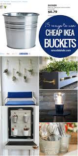 Ikea Wall Planter Remodelaholic 15 Ways To Use Ikea U0027s Socker Cheap Metal Buckets