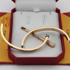 love bracelet pink gold cartier images Love bracelet pink gold 4 diamonds replica b6036016 jpg