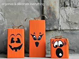 Creative Halloween Crafts 4 X 4 Pumpkins 5 1 Crafts Pinterest Crafts Holidays And Woods
