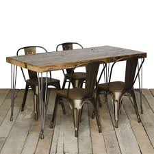 Urban Dining Room by Modern Reclaimed Wood Dining Table Reclaimed Dining Table Mid
