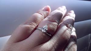 shaped rings images Pear shaped rings and carat size on finger weddingbee JPG