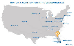 Jacksonville Florida Map Jacksonville Airport Flight And Air Travel In Jacksonville