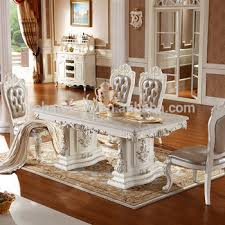 Provincial Living Room Furniture Luxury White Lacquer Silver Gold Stroke Antique Provincial