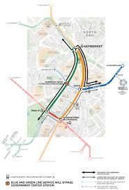 Boston Mbta Map Official Map Boston Mbta Government Center Transit Maps