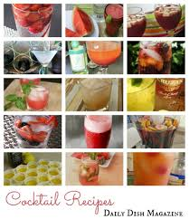 happy hour cocktail recipes daily dish with foodie friends