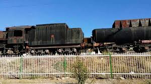 rusty train old rusty steam trains in uşak turkey youtube