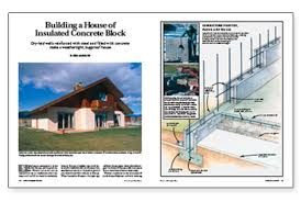 how to build a concrete block house building a house of insulated concrete block fine homebuilding