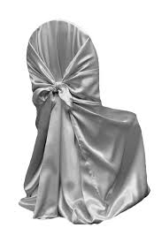 universal chair covers universal satin self tie chair cover silver at cv linens cv linens