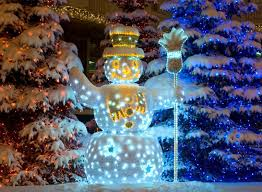 lighted snowman yard decoration 12 creative outdoor snowman