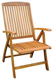 royal tahiti outdoor folding armchairs set of 2 brown stain
