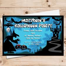 10 personalised spooky halloween party invitations n10