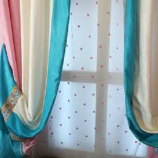 Orange And White Striped Curtains Toile Blue Pink White Striped Curtains No Valance