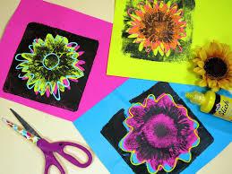 cassie stephens in the art room andy warhol inspired flower prints