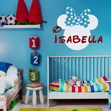 wall decal vinyl sticker baby minnie mickey mouse bow custom