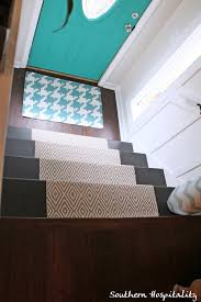 Stairs Rug Runner Painted Stairs And Adding Runners Southern Hospitality