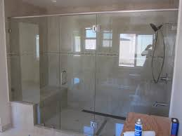 heavy glass shower door large shower enclosure patriot glass and mirror san diego ca