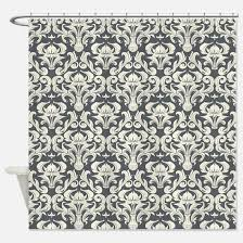 Black And Cream Damask Curtains Gray Damask Shower Curtains Cafepress