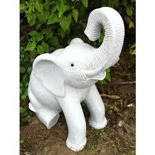 sitting granite elephant statue large garden ornament s s shop