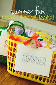 Summer Gift Basket Natalie Creates Summer Fun House Sitting Gift Basket Idea