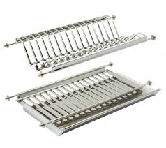 Kitchen Cabinet Dish Rack Stainless Steel Plate Rack U0026 Drainer Storage Suits 500mm Cabinets