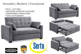 Mattresses For Sofa Sleepers Simple Modern Futon Sofa Bed Grey Boca The Shop For Serta Beds
