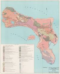 Map Curacao Soil Dutch Caribbean