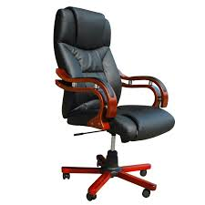 Real Leather Office Chair Black Black Real Leather Office Chair Lovdock