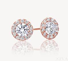 gold diamond stud earrings gold diamond stud earrings with halo