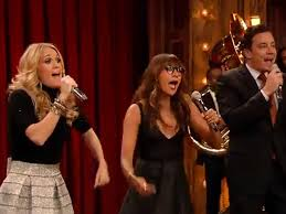 carrie underwood rashida jones jimmy fallon put a spin