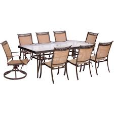 fontana 9 piece dining set with six stationary dining chairs two