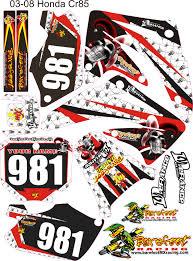 motocross helmet decals honda 85 graphics motocross jester