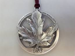 c150 maple leaf ornament seagull pewter
