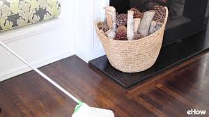 how to clean wood floors youtube