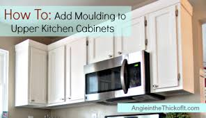 kitchen cabinet trim ideas picture design diy confidence builder add moulding to your kitchen