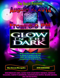 glow in the dark pool party the social