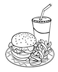 printable 34 junk food coloring pages 10102 junk food coloring