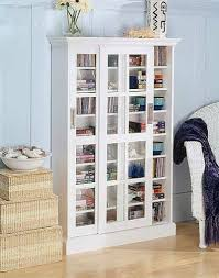 Dvd Storage Cabinet White Cd Dvd Vhs Sliding Glass Door Storage Cabinet