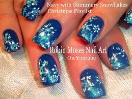 easy snowflake nails gradient christmas nail art design tutorial