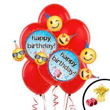 balloon bouquest emoji wishes jumbo balloon bouquet birthdayexpress